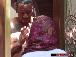 Horny Arab Babe Riding Black Cock 720p