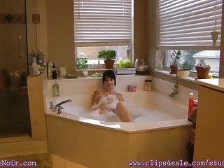 Angie Noir In My Son Gets A Bubble Gum Bubble Bath Blow