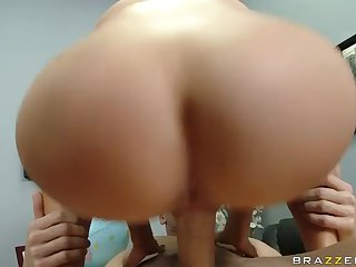 Busty Blone Diamond Foxx Rides On Cock And Gets Poked In Doggy Style